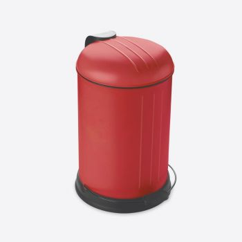 Rixx pedal bin with soft closing cover mat red 12L