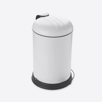 Rixx pedal bin with soft closing cover mat off-white 12L