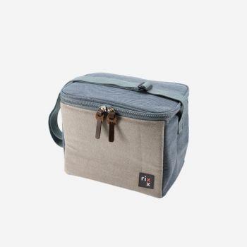 Rixx sling cooler bag dark blue and grey 23x15x19cm