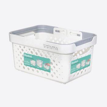 Sistema Home stackable basket with handles 1.2L (per 8 pcs)