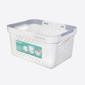 Sistema Home stackable basket with handles 5.25L (per 6 pcs)