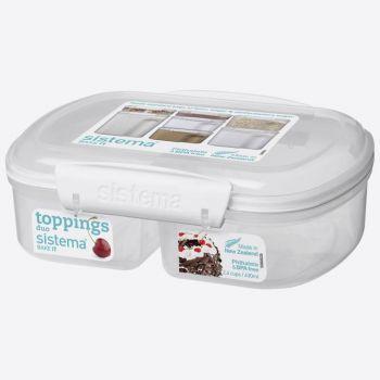 Sistema Bake It storage box with 2 compartments split 630ml (per 6pcs)