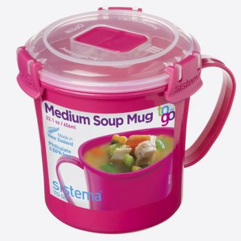 Sistema Microwave Colour soup mug medium 656ml (6 ass.)
