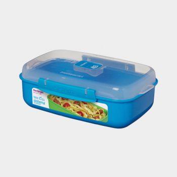 Sistema Microwave Colour rectangular bowl 1.25L (6 ass.)