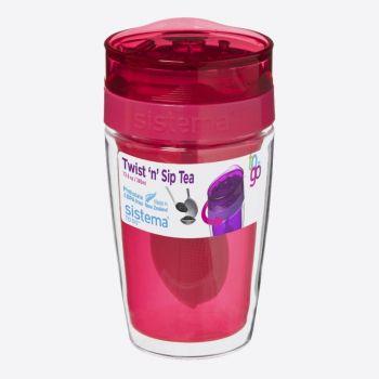 Sistema To Go mug with tea infuser Twist n Sip 370ml (6 ass.)