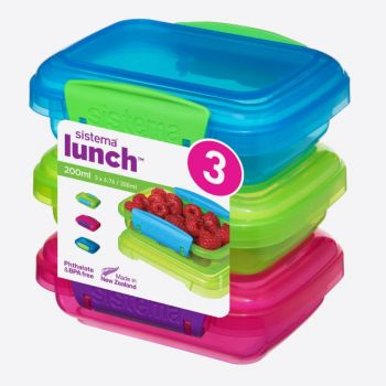Sistema Trends Lunch 3-pack storage boxes 200ml (4 ass.)