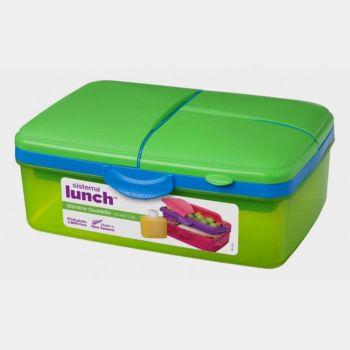 Sistema Trends lunch box with drinking bottle Slimline Quaddie 1.5L (6 ass.)