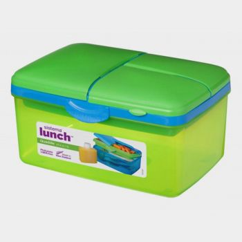 Sistema Trends lunch box with drinking bottle Quaddie 2L