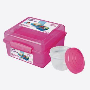 Sistema lunch box cube with yoghurt pot 2L blau