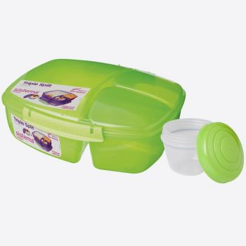 Sistema Vibe lunch box with 3 compartments & yoghurt pot Triple Split 2L Grün