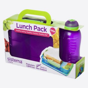Sistema Lunch packs lunch box Snack Attack duo & drinking bottle 330ml (6 ass.)