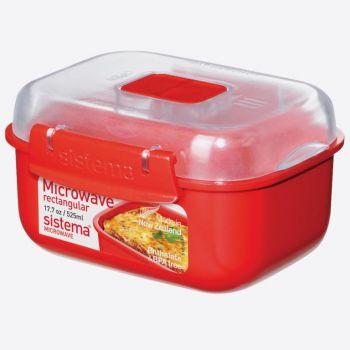 Sistema Microwave rectangular bowl 525ml (per 6pcs)