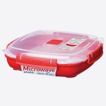 Sistema Microwave plate medium 880ml (per 6pcs)