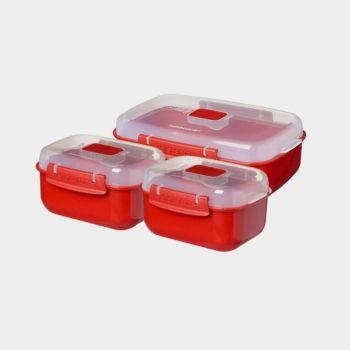 Sistema Microwave 3-pack Heat 'n eat - 2x525ml - 1x1.25L (per 4pcs)