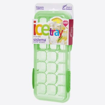 Sistema Accents large ice tray with lid for 21 ice cubes (6 ass.)