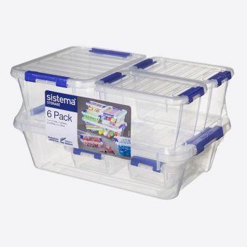 Sistema Storage 6-pack - 2x175ml - 1x810ml - 1x1.7L (per 4pcs)