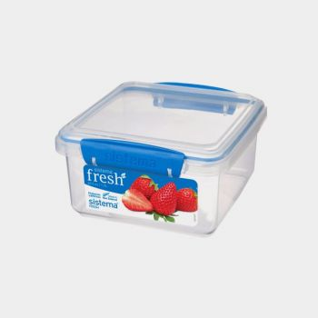 Sistema Fresh rectangular storage box blue 1.2L (per 6pcs)