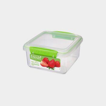 Sistema Fresh rectangular storage box green 1.2L (per 6pcs)