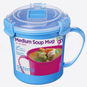 Sistema To Go soup mug blue 656ml (per 12pcs)