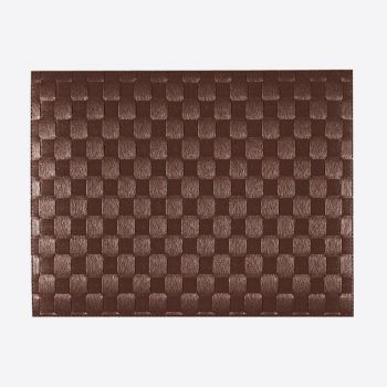 Saleen wide woven plastic placemat brown 30x40cm