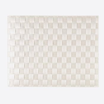 Saleen wide woven plastic placemat white 30x40cm
