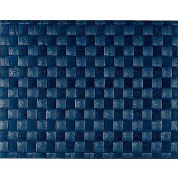 Saleen wide woven plastic placemat dark blue 30x40cm