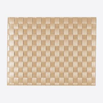 Saleen wide woven plastic placemat crème 30x40cm