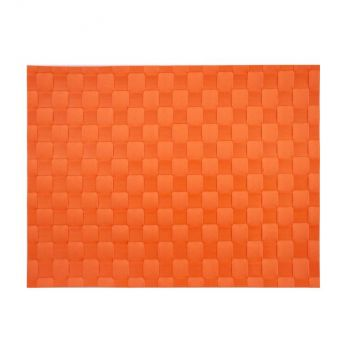 Saleen wide woven plastic placemat orange red 30x40cm