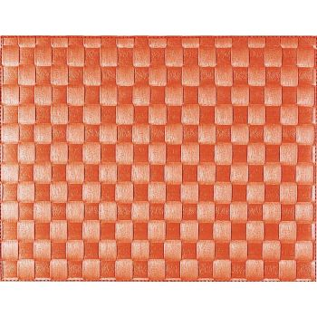Saleen wide woven plastic placemat orange 30x40cm
