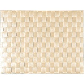 Saleen wide woven plastic placemat off-white 30x40cm
