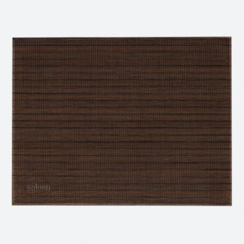 Saleen Uni fine woven plastic placemat brown and black 32x42cm