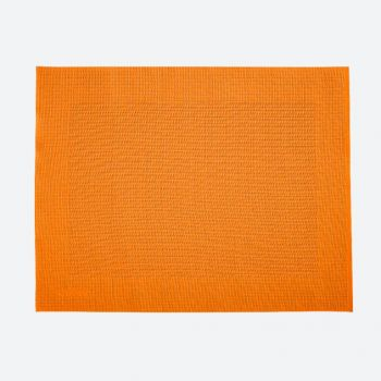 Saleen Rahmen fine woven plastic placemat orange 32x42cm