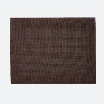 Saleen Rahmen fine woven plastic placemat brown 32x42cm