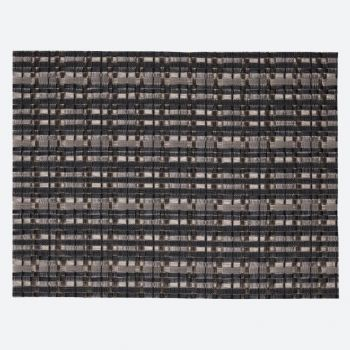 Saleen Edel fine woven plastic placemat anthracite and silver 32x42cm