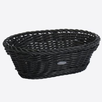 Saleen oval woven plastic basket black 25x17x8.5cm