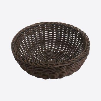 Saleen round woven plastic basket brown Ø 23cm H 9cm