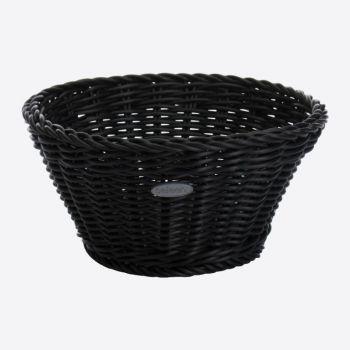 Saleen round woven plastic basket black Ø 18cm H 10cm