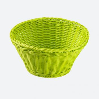Saleen round woven plastic basket lime Ø 22cm