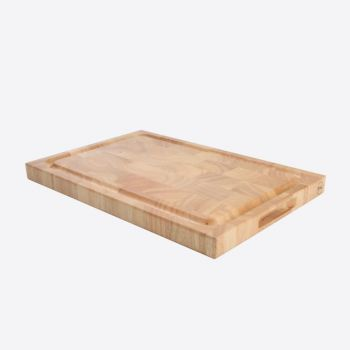 T&G Woodware cutting board in hevea wood with groove 42x28X3.2cm