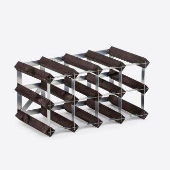 Traditional Wine Rack Co. Burnt oak wine rack for 12 bottles 42x22.8x22.8cm