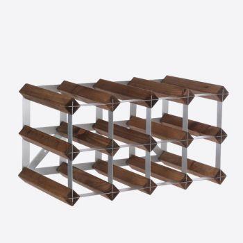 Traditional Wine Rack Co. dark oak wine rack for 12 bottles 42x22.8x22.8cm
