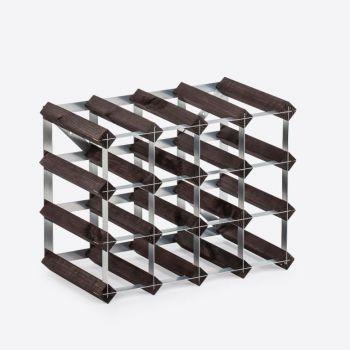 Traditional Wine Rack Co. burnt oak wine rack for 16 bottles 42x22.8x32.4cm