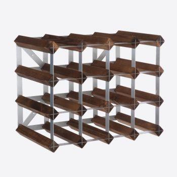 Traditional Wine Rack Co. dark oak wine rack for 16 bottles 42x22.8x32.4cm