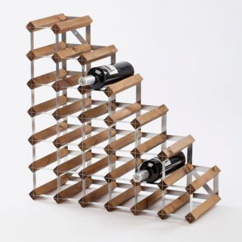 Traditional Wine Rack Co. Stairs dark oak wine rack for under stairs 61.2x22.8x61.2cm