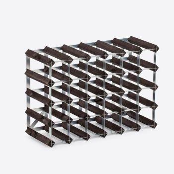 Traditional Wine Rack Co. burnt oak wine rack for 30 bottles 61.2x22.8x42cm