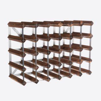 Traditional Wine Rack Co. dark oak wine rack for 30 bottles 61.2x22.8x42cm