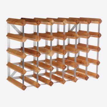 Traditional Wine Rack Co. light oak wine rack for 30 bottles 61.2x22.8x42cm