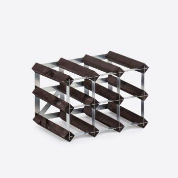 Traditional Wine Rack Co. burnt oak wine rack for 9 bottles 32.4x22.8x22.8cm