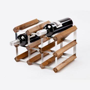 Traditional Wine Rack Co. dark oak wine rack for 9 bottles 32.4x22.8x22.8cm