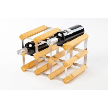 Traditional Wine Rack Co. light oak wine rack for 9 bottles 32.4x22.8x22.8cm